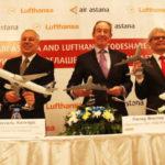 Казахстанская Air Astana подписала кодшеринговое соглашение с Lufthansa